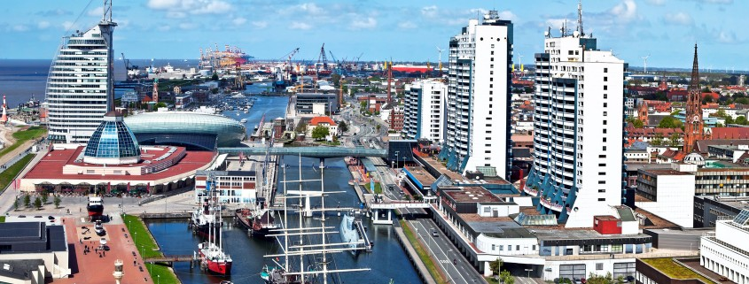 Hier würden Sie das Bild des Hafens von Bremerhaven sehen.