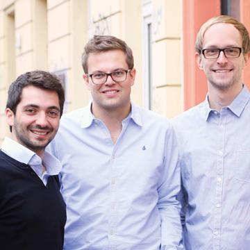 Dmitri Uvarovski, Steffen Wicker und Philipp Reichle